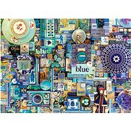 Cobble Hill Puzzle Barvy duhy: Modrá 1000 dílků - Puzzle