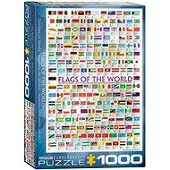 Eurographics Puzzle Vlajky světa 1000 dílků - Puzzle