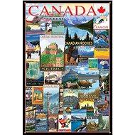 Eurographics Puzzle Plakáty z cest Kanadou 1000 dílků - Puzzle