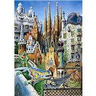 Educa Miniaturní puzzle Koláž z díla A.Gaudí 1000 dílků - Puzzle