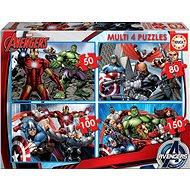Educa Puzzle Avengers 4v1 (50,80,100,150 dílků) - Puzzle
