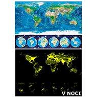 Educa Svítící puzzle Mapa světa 1000 dílků - Puzzle