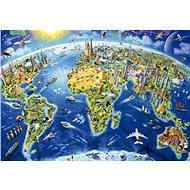 Educa Puzzle Mapa se světovými památkami 2000 dílků - Puzzle