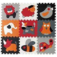 Baby Great Pěnové puzzle Zvířata šedá-červená SX (30x30) - Vkládačka