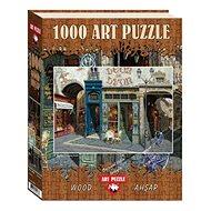 Dřevěné Puzzle Art Dřevěné puzzle Kavárna Leon 1000 dílků - Dřevěné Puzzle