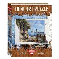 Art Dřevěné puzzle Terasa u moře 1000 dílků - Dřevěné Puzzle