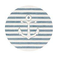 Dětský koberec kulatý -  Modrá kotva - Dětský koberec