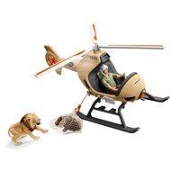 Schleich 42476 Záchranný vrtulník pro zvířata - Herní set