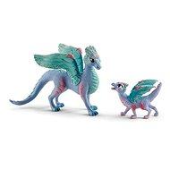 Figurky Schleich 70592 Květinový drak s mládětem