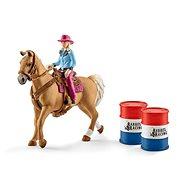 Schleich 41417 Osedlaný kůň s kovbojkou - Figurka