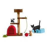 Figurky Schleich 42501 Škrábací kočičí strom s koťaty