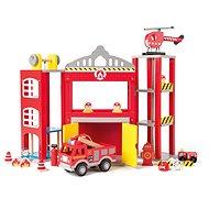 Woody Velká hasičská stanice s autíčky - Herní set