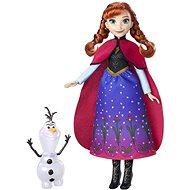 Frozen Panenka Anna se třpytivými šaty a kamarádem - Herní set