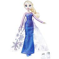 Frozen panenka Elsa se třpytivými šaty a kamarádem - Herní set