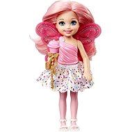 Barbie víla Chelsea světle růžová - Panenka