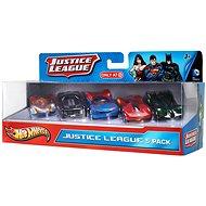Hot Wheels Angličáky 5 ks - Justice League - Sada autíček
