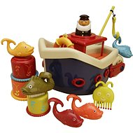 B-Toys Loď s kapitánem Fish & Splish - Hračka do vody