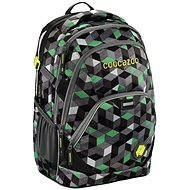 d2593a27bc4 CoocaZoo EvverClevver 2 Crazy Cubes Green - Školní batoh