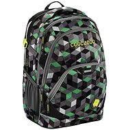 88bd7a86492 CoocaZoo EvverClevver 2 Crazy Cubes Green - Školní batoh