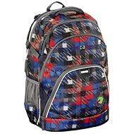 CoocaZoo EvverClevver Dope Square Red - Školní batoh