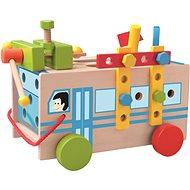 Woody Montážní autobus s nářadím - Didaktická hračka