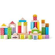 Woody Stavebnice kostky barevné - Stavebnice