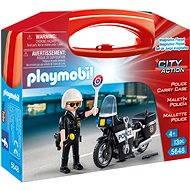 Playmobil 5648 Přenosný box - Policista s motorkou - Stavebnice