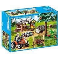 Playmobil 6814 Dřevorubci s traktorem - Stavebnice