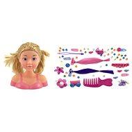 Česací hlava s doplňky - blondýnka - Kreativní hračka