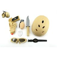 Vojenský set s helmou  - Pistole