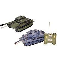 Bitevní set T-34 a Tigr - 2 tanky - Tank na dálkové ovládání