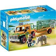 Playmobil 6937 Auto strážců zvířat s přívěsem - Stavebnice