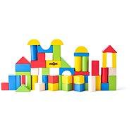 Woody Coloured Blocks, 50 pieces - 2,5cm - Wooden Blocks