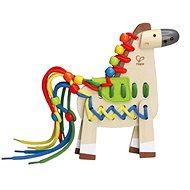 Hape Šněrovací poník - Dřevěná hračka