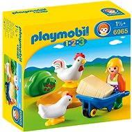 Playmobil 6965 Farmářka s kuřaty - Stavebnice