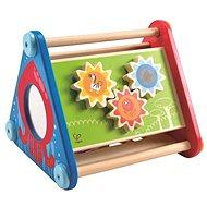 Hape Veselý didaktický trojúhelník s aktivitami - Dřevěná hračka