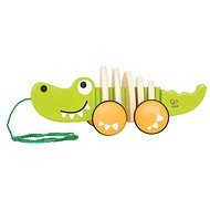 Hape Walk-along Crocodile - Wooden Toy