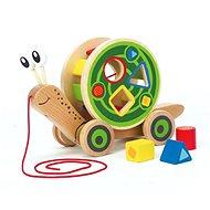Hape Tahačka šnek s vkládacími geometrickými tvary - Dřevěná hračka
