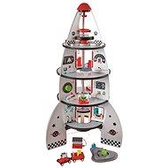 Hape Čtyřpatrová vesmírná raketa - Dřevěná hračka