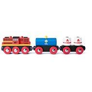 Woody Diesel lokomotiva s nákladním vlakem - Příslušenství k vláčkodráze