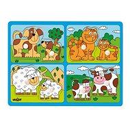 Woody Domácí zvířata s mláďaty - Puzzle
