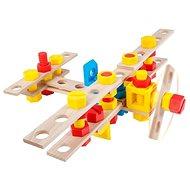 Malý konstruktér Junior - Letadlo - Dřevěná stavebnice