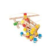 Malý konstruktér Junior - Vrtulník - Dřevěná stavebnice