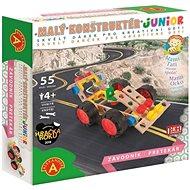Malý konstruktér Junior - Závodník - Dřevěná stavebnice