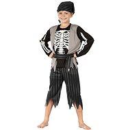Kostra Piráta - černo-šedá - Dětský kostým