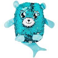 Flitrový medvídek - světle modrý - Plyšový medvěd