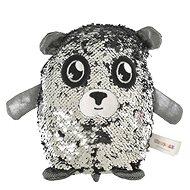 Flitrový medvídek - stříbrný - Figurka