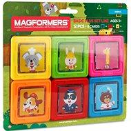 Magformers Kartičky zvířátka - Magnetická stavebnice