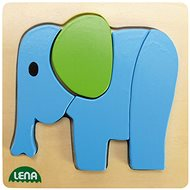 Lena Dřevěné puzzle - slon - Puzzle