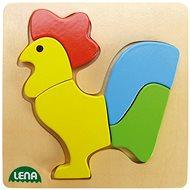 Lena Dřevěné puzzle - kohout - Puzzle